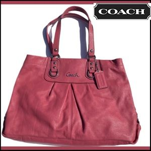 COACH PINK LEATHER EXCELLENT BAG